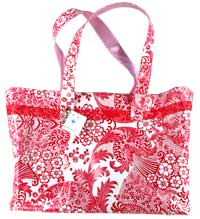 Tilly Totebag in Lacy Red